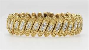 A diamond and gold bracelet, Cartier
