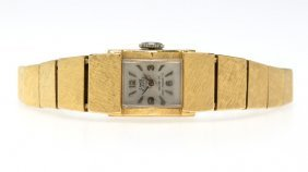 A Gold Florentine-finish Wristwatch, Canoe