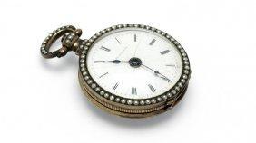 A Bovet Fleurier Enamel Pocket Watch
