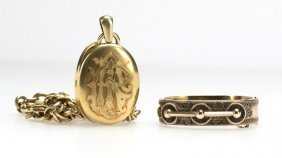 A Group Of Victorian Gold-filled Jewelry