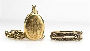 A group of Victorian goldfilled jewelry