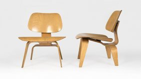 A Pair Charles Eames For Herman Miller Lcw Chairs
