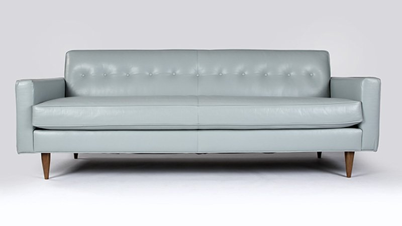 A Design Within Reach ''Bantam'' leather sofa