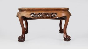 A Chinese Export Carved Cocktail Table