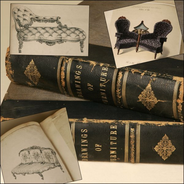 1017: TWO VOLUME FOLIO, A GROUP OF FURNITURE DESIGNS