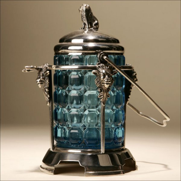 1018: A VICTORIAN SILVER-PLATED PICKLE CASTER