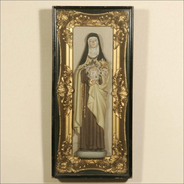 "1021: A ""VIRGIN MARY"" SANTOS SHADOW BOX"