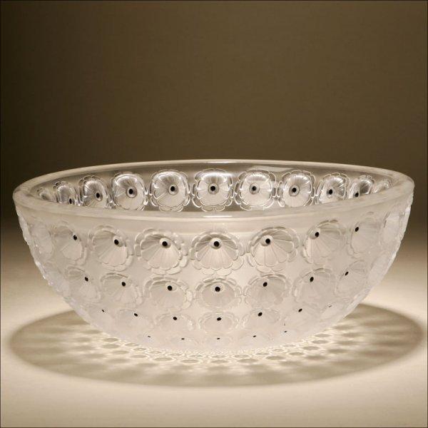 1024: A LALIQUE GLASS FRUIT BOWL