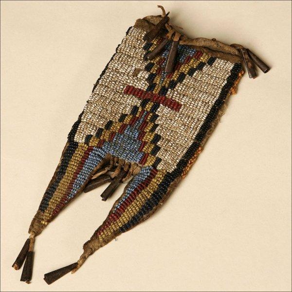 1169: A BEADED BUCKSKIN FETISH BAG(?)