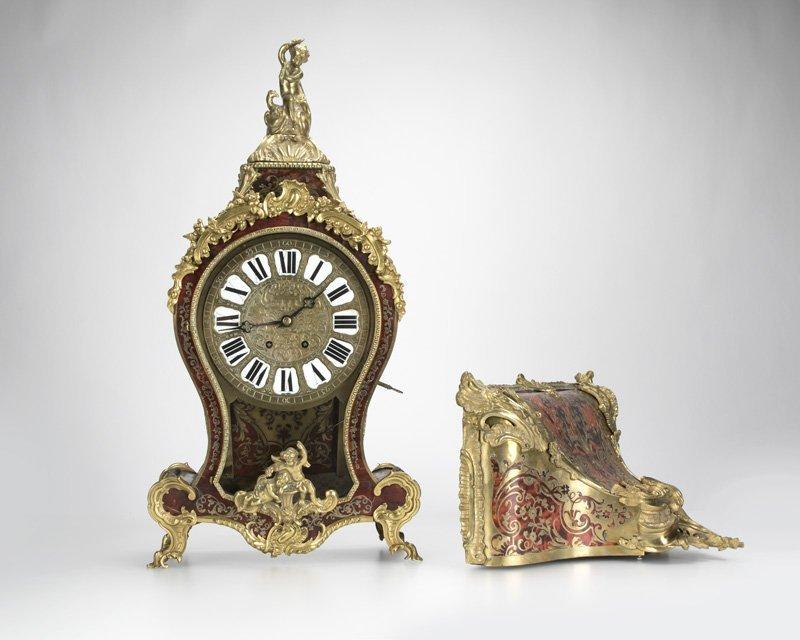 A Louis XV-style Boulle bracket clock