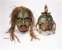 Two Northwest Coast Indian masks
