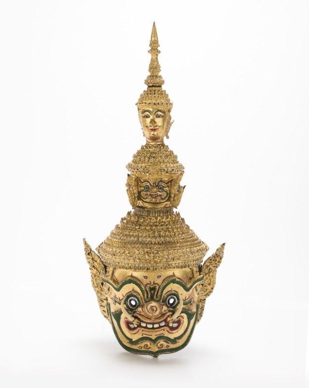 A Thai paper mache mask of Tosakan