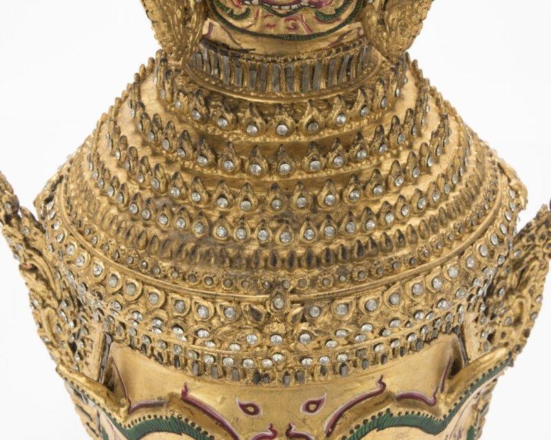 A Thai paper mache mask of Tosakan - 3
