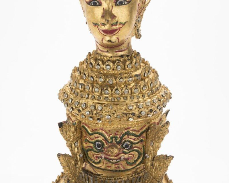 A Thai paper mache mask of Tosakan - 4