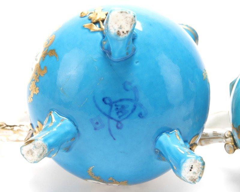 Two Sevres bleu celeste porcelain creamers - 3