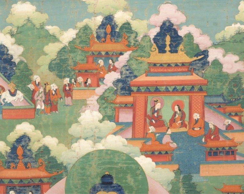 18th Century Sino-Tibetan style Thangka, Buddha - 2