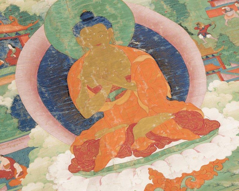 18th Century Sino-Tibetan style Thangka, Buddha - 7