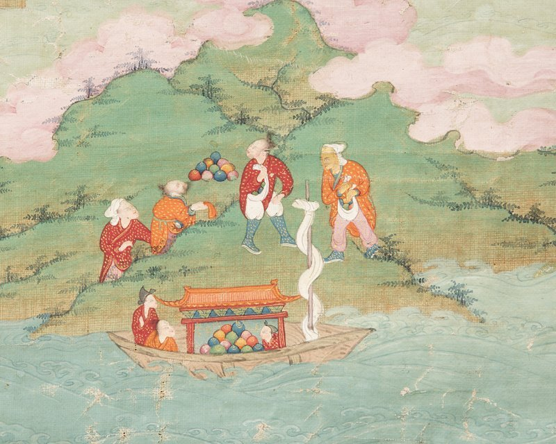 18th Century Sino-Tibetan style Thangka, Buddha - 9