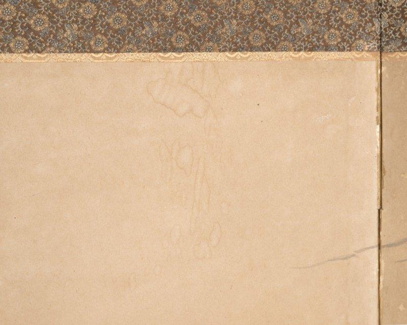A Japanese two-panel folding byobu floor screen - 3