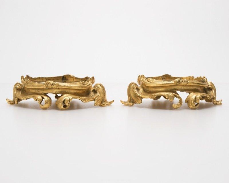 Two gilt-bronze stands/plinths, P.E. Guerin
