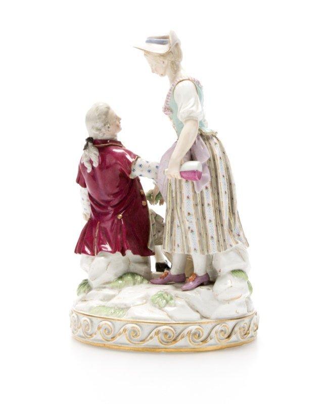 A Meissen porcelain figural group - 4