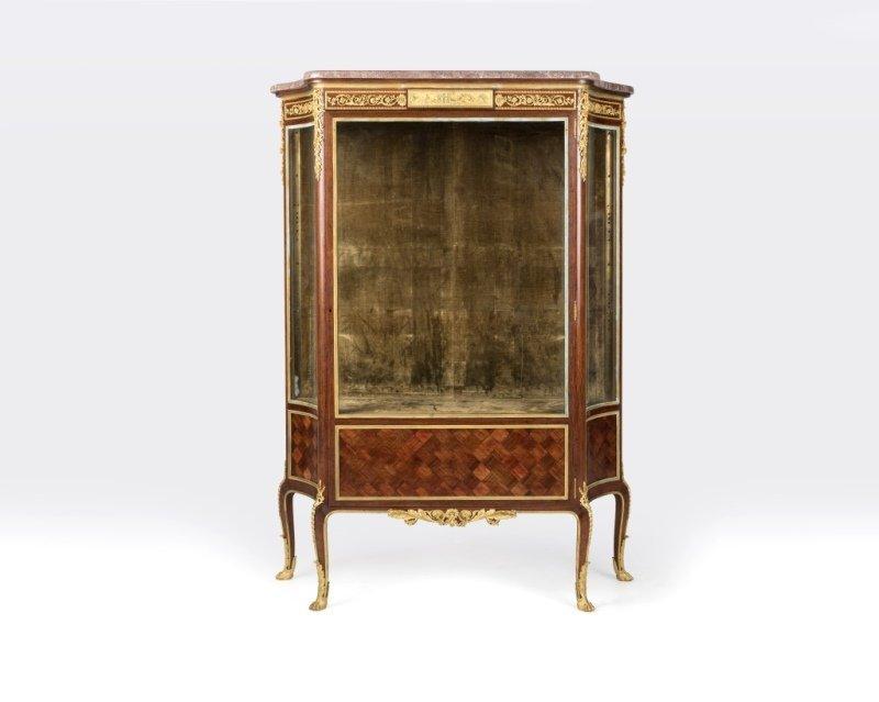 A Louis XV-style bronze-mounted vitrine, F. Linke