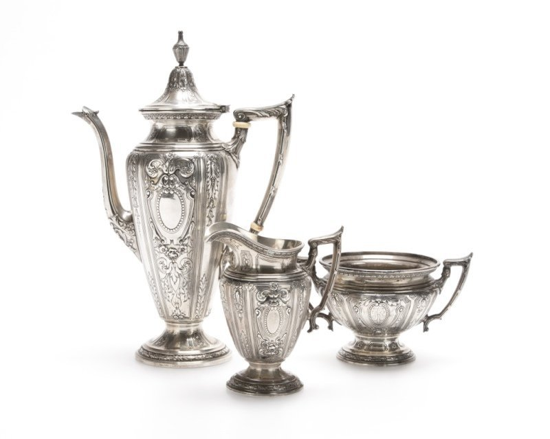 A Gorham sterling silver coffee service