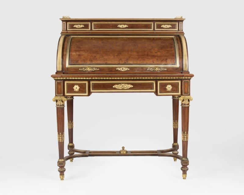 A Louis XVI-style roll-top desk, Fourdinois