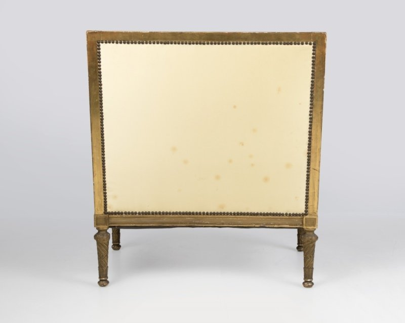 A Louis XVI-style carved giltwood settee - 2