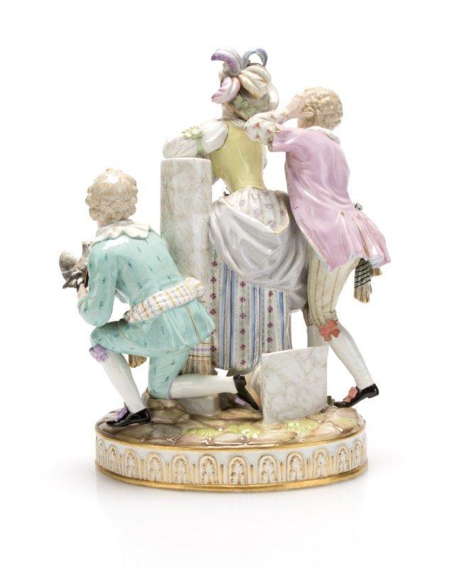 A Meissen porcelain figural group - 2