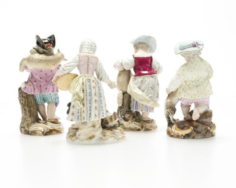 A group of Meissen porcelain figures - 2