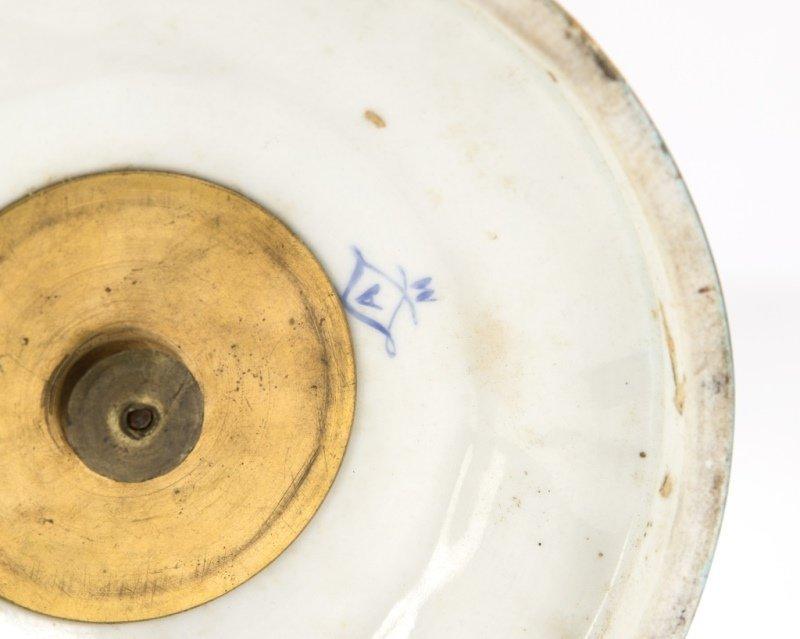 Pair of Sevres bleu celeste porcelain lidded urns - 5