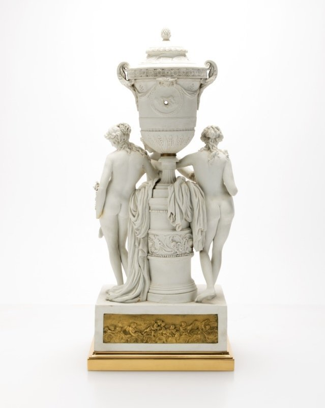 A Sevres gilt bronze-mounted bisque figural clock - 4