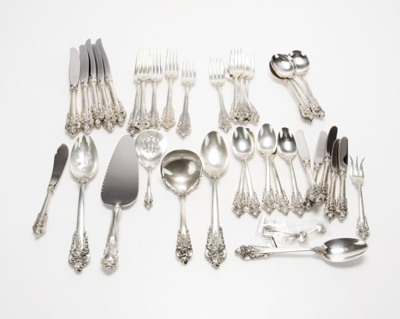Partial Wallace sterling silver flatware service