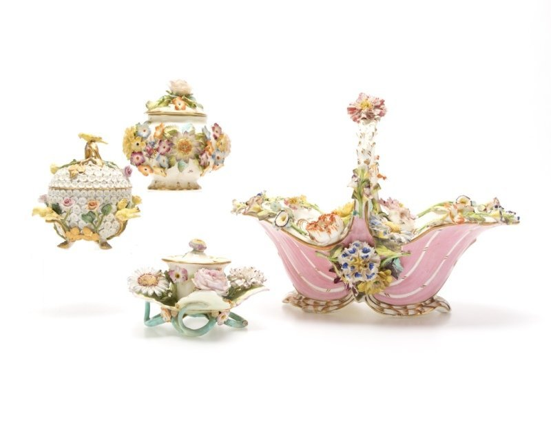 A group of English and German porcelain