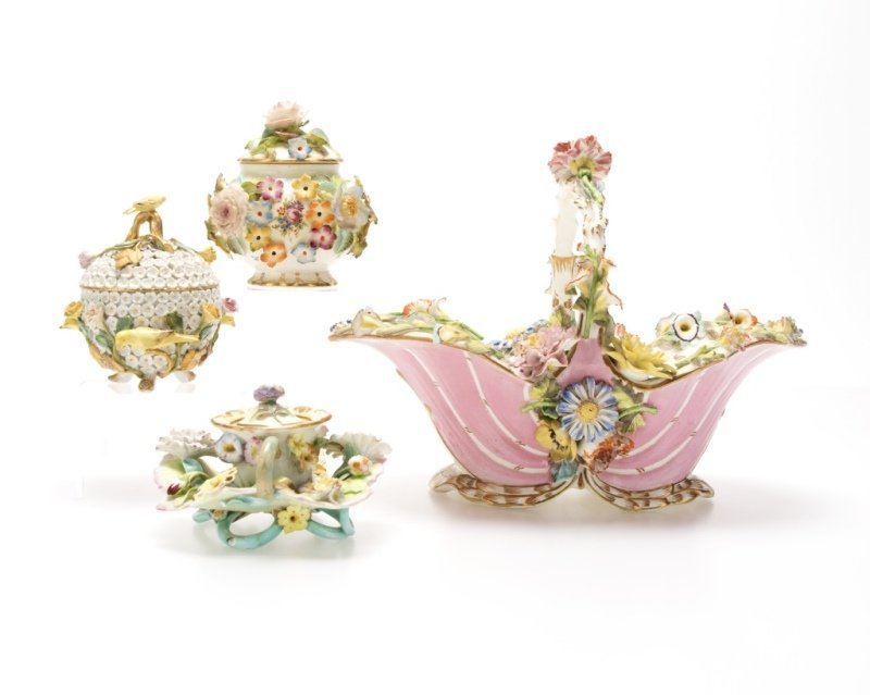 A group of English and German porcelain - 3