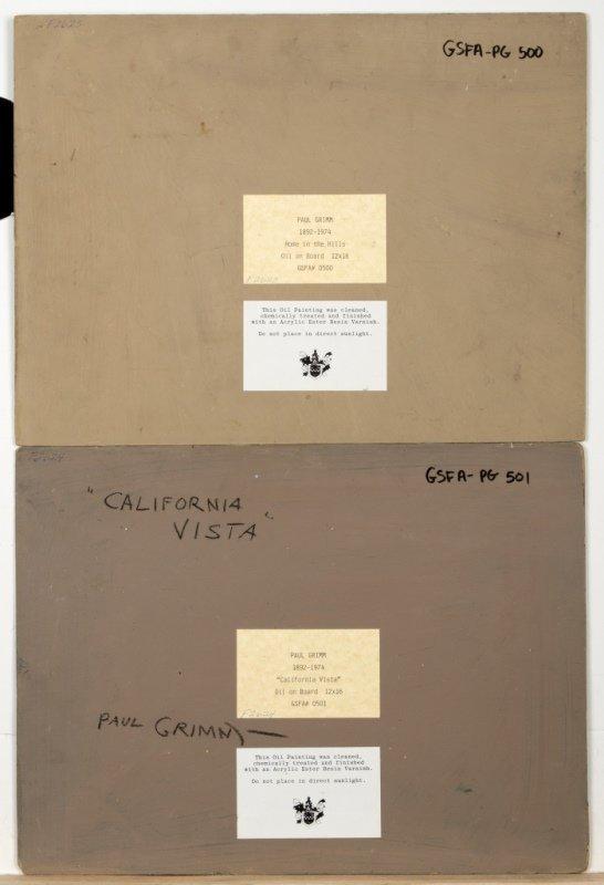 Paul Grimm (1891-1974 Palm Springs, CA) - 4