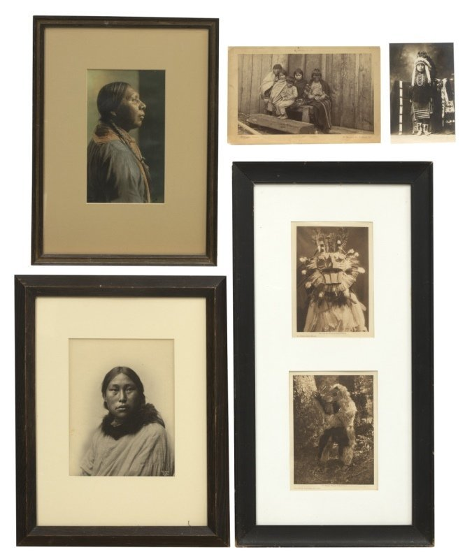 Five Pacific Northwest and Southwest Indian portraits,