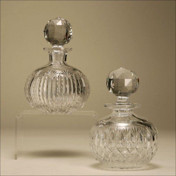 1007: TWO CUT-GLASS DRESSER BOTTLES