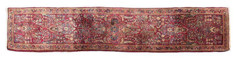 A Persian Sarouk runner carpet
