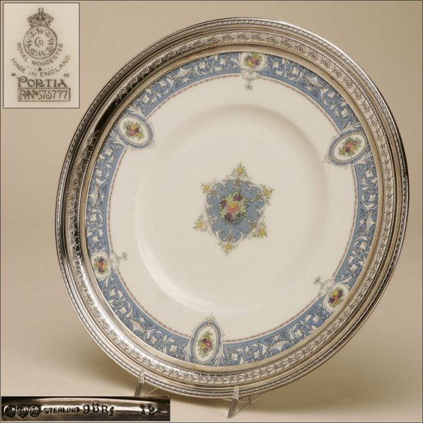 2002: A ROYAL WORCESTER STERLING MOUNTED CHARGER