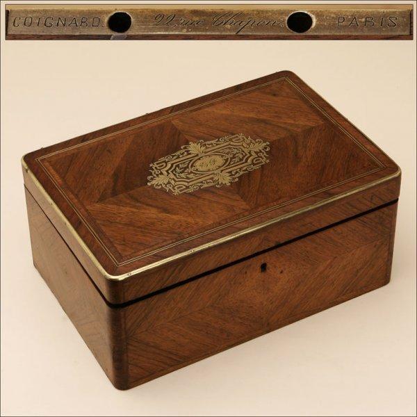 2007: A FRENCH BRASS-MOUNTED KINGWOOD BOX
