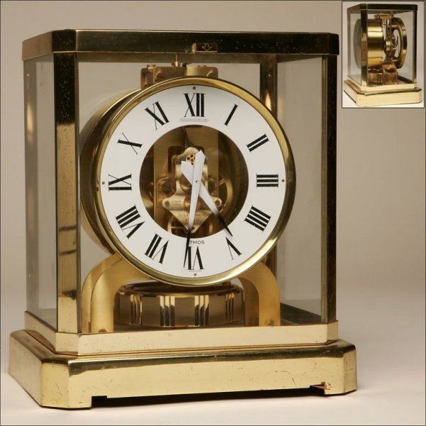 """2008: A JAEGER LE COULTRE BRASS """"ATMOS"""" CLOCK"""