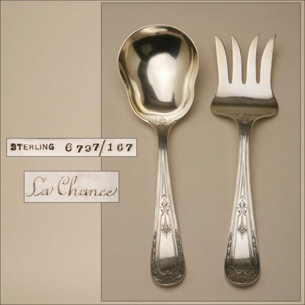2010: A STERLING SILVER SALAD SET
