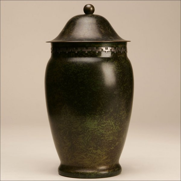 2012: A HEINZ BRONZE AND STERLING ART VASE