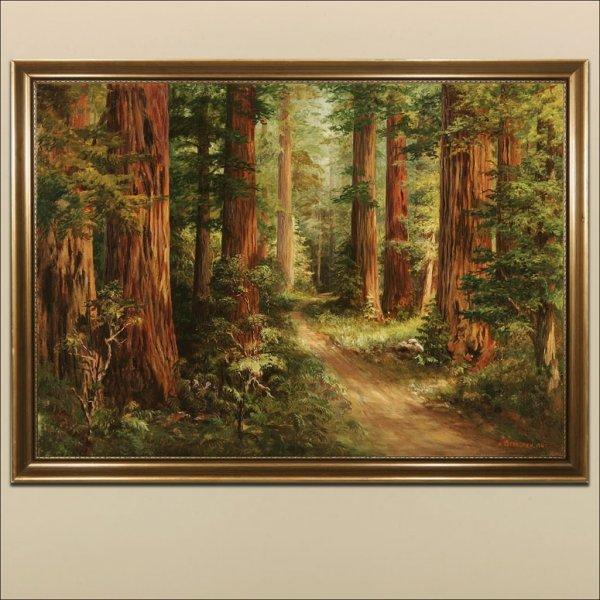 2081: A. OSTERGREN, PATH THROUGH FOREST INTERIOR