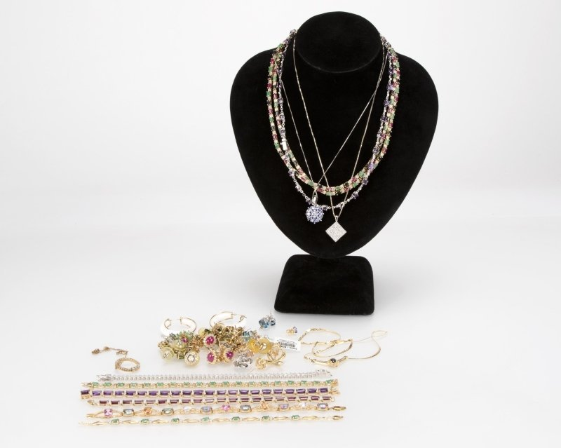 A large group of jewelry items