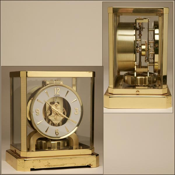 1012: A JAEGER LE COULTRE BRASS ATMOS CLOCK