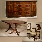 1070: AN AMERICAN DUNCAN PHYFE STYLE DINING ROOM SUITE