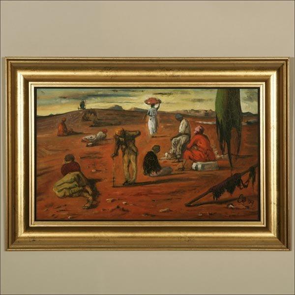 1128: EUGENE BERMAN, ''LA PLAINE DES MENDIANTS'', OIL